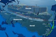 Грузоперевозки между Китаем и Россией растут